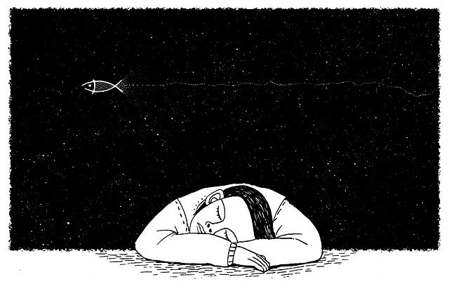寝ている人