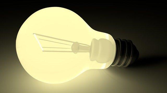 光っている電球