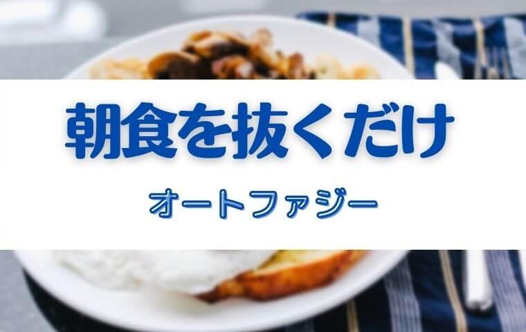 【16時間断食】55歳中年男が朝食抜き断食を半年間続けた【体験談】現在も継続中